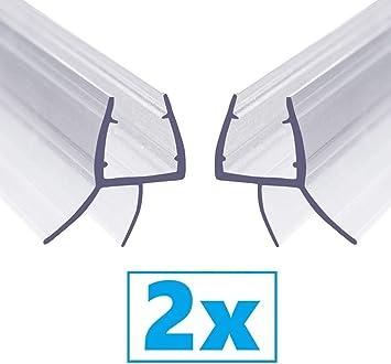 Ducha Pantalla Sello - Junta Repuesto Para el Vidrio para 6-8mm De Puerta de Cristal Curvado/Recto, 2X 100cm Mampara de Ducha No Se Requiere Pegamento: Amazon.es: Bricolaje y herramientas