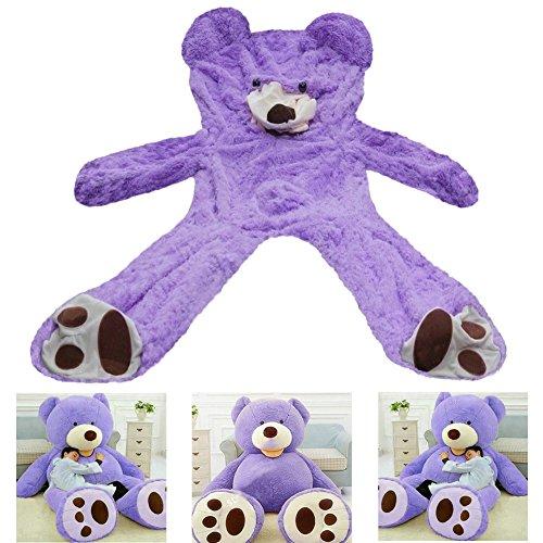 78/'/' Giant Purple Teddy Bear Plush Cover Big No Filler Animal Toy 200Cm Kid Gfit