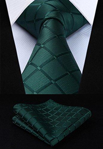 T5 set Cravatta Formale Hisdern Seta Pcs Lotto Multipli Elegante Uomo Setamp; Pocket Square Di 5 Classico 19 gYyv6bf7Im