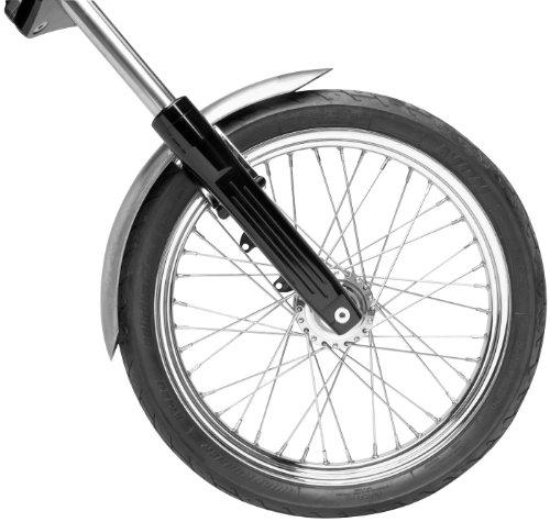 (Bikers Choice OffSet FRNT Fender With Bracket Raw Steel)