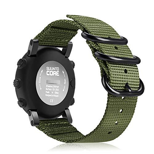 Malla de Nylon Para Reloj Suunto Core - Olive