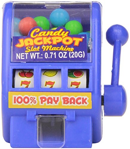 (Kidsmania Candy Jackpot Slot Machine Candy Dispenser, 0.7-Ounce Candy-Filled Dispensers (Pack of 12))