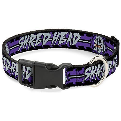 Teenage Mutant Ninja Turtles Cat Collar Breakaway Shredder Head Shred Head Stripe Black Purple Gray 6 to 9 Inches 0.5 Inch Wide