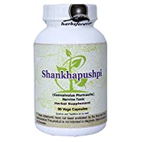 Shankhpushpi (Convolvulus Pluricaulis) (Whole Plant) (Ayurvedic Stress Relief Formulation) (Ayurvedic Brain Tonic) 90 Vege Capsules, 800 Mg Each Extract Ratio 18:1 (Concentrated)