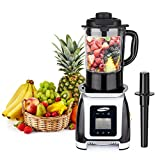 Cheap Professional Blender, JUSCHEF 35000RPMS Blender for Shakes and Smoothies 8 Programs with Heating Mode BPA Free Glass Pitcher