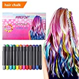 #7: anngrowy Hair Chalk Birthday Gifts for Girls Kids Temporary Hair Color Chalks pens for Any Age(3+) Washable Hair Dye for Dark Hair Blonde Brown Auburn Hair Color Party Cosplay DIY Presents Hair dye