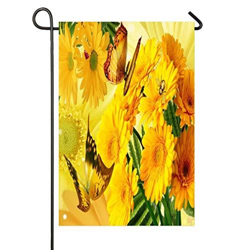 Golden Glory Garden Flag Double Sided, Home Decorative House Yard Flag,Seasonal Outdoor Flag 12 x 18 ()