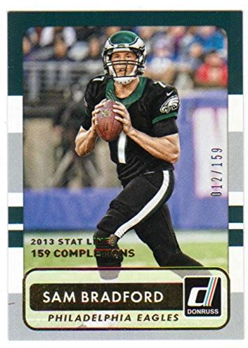 2015 Donruss Season Stat Line #14 Sam Bradford Serial Numbered to only /159