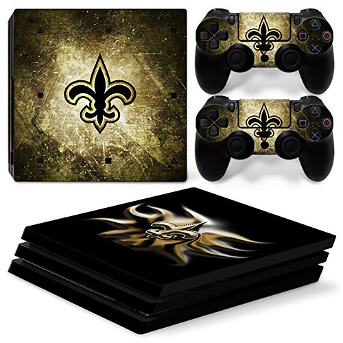 Saints Orleans New Controller (FriendlyTomato PS4 Pro Console and DualShock 4 Controller Skin Set - Football NFL - PlayStation 4 Pro Vinyl)