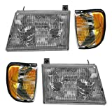 Holiday Rambler Ambassador 2000-2004 RV Motorhome 4 Piece Set Left & Right Replacement Front Headlights & Signal Lights