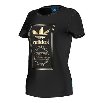 adidas t shirt damen schwarz gold