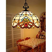 E27 110-220V 20CM 10-15 Chain Hoist 1 Meter European Pastoral Tiffany Lamp Creative Art Glass Led Small Droplight