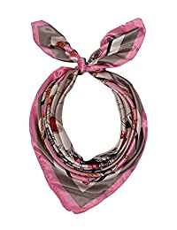 MissShorthair Silk Like Scarf Large Satin Square Headscarf for Women 35''x35''
