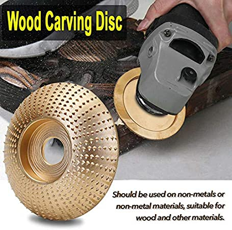 Tungsten Carbide Grinding Wheel Wood Sanding Carving Disc Tool For Angle Grinder