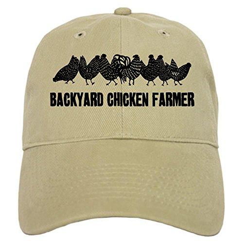 CafePress - Backyard Chicken Farmer Cap - Baseball Cap with Adjustable Closure, Unique Printed Baseball (Chicken Hats)