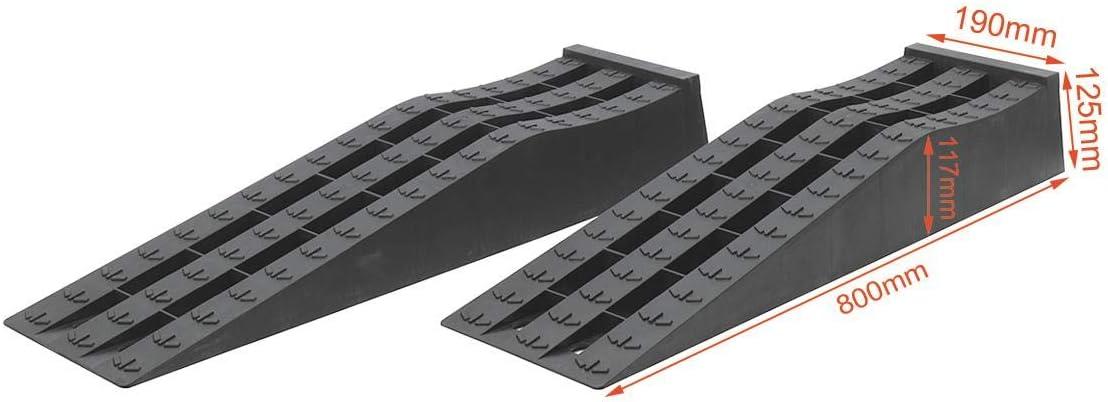profil bas Rampes de service de voiture datelier de garage en plastique r/ésistant de KATSU 2PCS