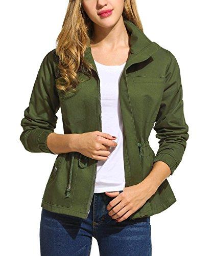 Zeagoo Women's Classic Zip Up Military Anorak Street Fashion Jacket 51wnCFL8ZcL