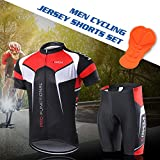 Lixada Men's Cycling Jersey Set Bicycle Short
