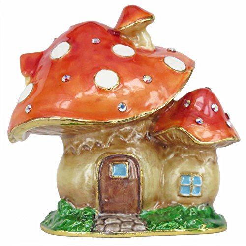 RUCINNI Mushroom Jeweled Trinket Box with Swarovski Crystals (RB2140)
