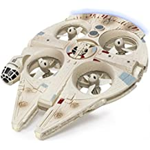 Air Hogs - Star Wars Remote Control Millennium Falcon XL Flying Drone With Darth Vader Plush