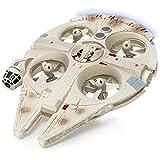 Air Hogs - Star Wars Remote Control Millennium Falcon XL Flying Drone With Darth Vader Plush