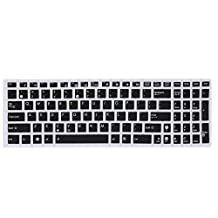 """FORITO ASUS Keyboard Cover Silicone Rubber Skin for ASUS 15.6"""" inch F555 F555LA F555LJ F555LB F555LD X550ZA Laptop US Layout (Black)"""