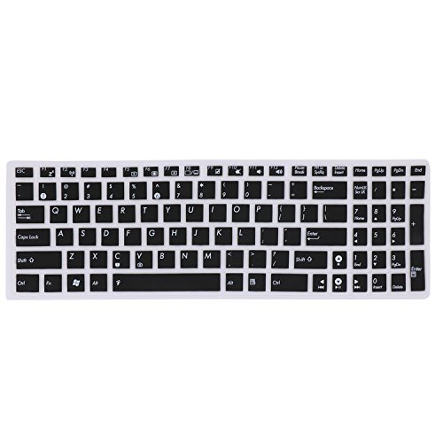 Keyboard Cover Skin for ASUS GL502VY/VT GL551 GL552VW/JX GL752VW, P2540UA F554LA F555 F556UA, ASUS Q503UA Q524UQ Q534UX Q552UB Q553UB, ASUS K501UX/LX, ASUS X540SA X541SA X550ZA X751LAV(Black) (Cover Laptop For Asus Keyboard)