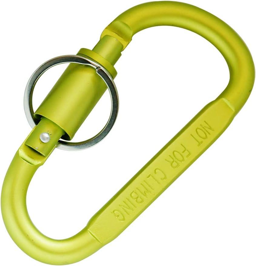Sliver Mavota Aluminum Carabiner D Shape Buckle Key Chain Keychain Clip Gate Buckle Spring Snap