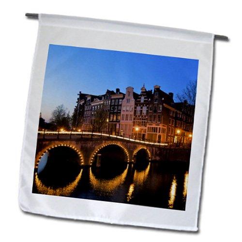 Danita Delimont - Canals - Netherlands, Amsterdam, Keisersgracht canal - EU20 JEN0008 - Jim Engelbrecht - 18 x 27 inch Garden Flag (fl_82305_2)