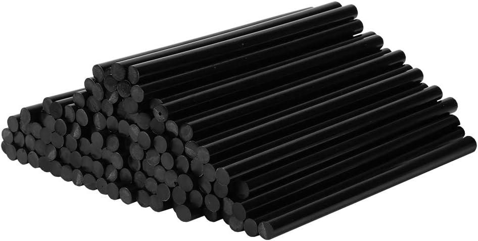 VINGO 55 piezas de pegamento caliente Barras de pegamento caliente redondas libres de solventes de 11 x 200 mm Secado r/ápido negro para pistolas de pegamento caliente comunes