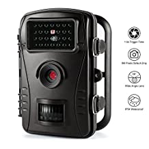 Trail Camera AidodoWater Proof Camera 720 8MP HD Game Wildlife Hunting Camera Scouting Camera Digital Security Camera 60 Degree Wide Angle Lens and 26pcs IR Leds – Motion