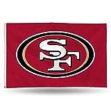 NFL San Francisco 49Ers Banner Flag, 3' x 5', Red