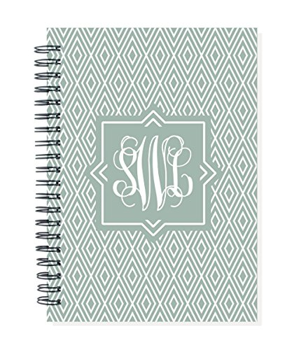 2019 24 month monogram monthly planner calendar notebook, start any month, choose color