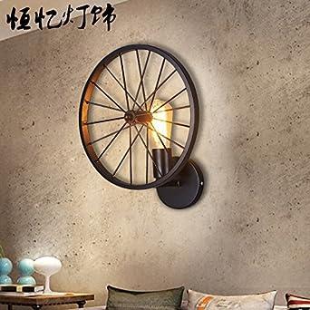 Avanthika E27 Lámpara de pared vintage aplique de pared de hierro lámpara de pared LED Apliques antiguos rústico restaurante Loft, artes industriales la rueda del ventilador de pared: Amazon.es: Iluminación