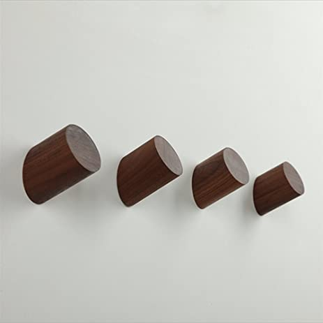 Amazon.com: Natural Wooden Coat Hooks, Wall Mounted Single Wall ...