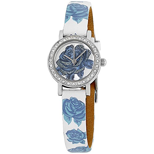 Guess Stella White Dial Leather Strap Ladies Watch W0886L2