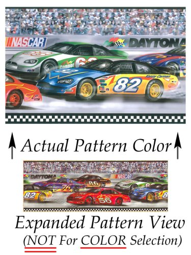 Nascar Border - Nascar Daytona Racing Prepasted Wall Border Roll