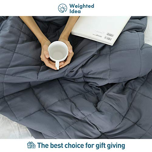 Weighted Idea Cooling Removable Cover 48/'/'X78/'/' For Weighted BlanketDark Grey