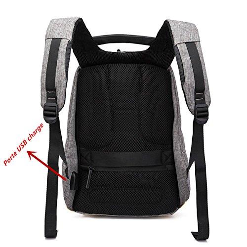 Backpack Viaje Puerto De Carga 6 Moda Antirrobo Ausero Casual Mochila Para Portátil Rosa Hombre 15 Negocio Usb Pulgadas Negro Impermeable Escolar Mujer Con Unisex xRSAqt