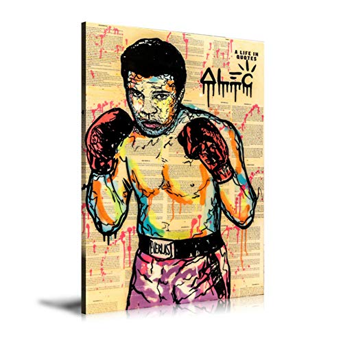 Muhammad Ali Abstract Wall Art Oil Painting Poster Canvas Painting Print Pictures for Living Room Home Decor -60x80cm Sin marco