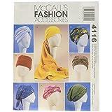 McCall's Patterns M4116 Turbante para Mujer, Cinta para la Cabeza y Tapas, Todos los tamaños