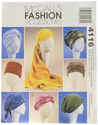 McCall's Patterns M4116 Misses' Turban, Headwrap and Caps