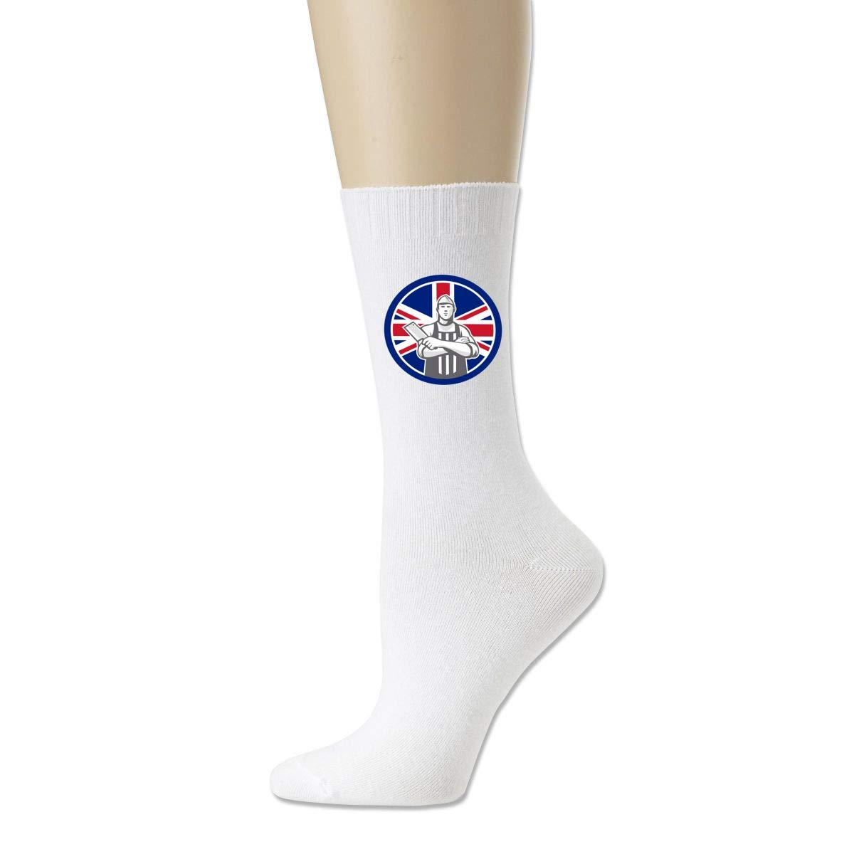 Rigg-socks British Butcher Front Union Jack Flag Icon Mens Comfortable Sport Socks Black