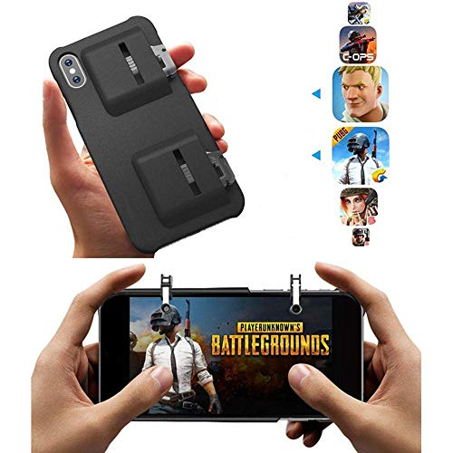 MOGOI Mobile Game Controller Case for iPhone Xs Max/XR/8P /7P/6P/ 8/7/6, Phone Cover for L1R1 Trigger Joystick Gamepad Grip Remote for iPhone iOS(4.7Inch/5.5 Inch/ 5.8 -