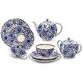 Imperial / Lomonosov Porcelain 'Bindweed' Tea Set 20 pc. for 6 persons