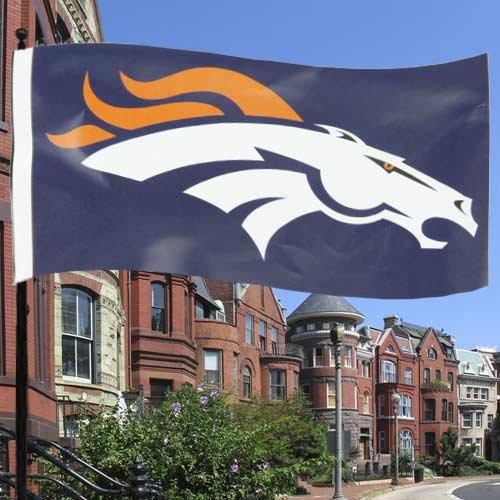 通販 NFL x Denver 'フラグ Broncosネイビーブルー3 ' x 5 'フラグ 5 B005FGWODK, 阿蘇まほぎ農園:355690c0 --- arianechie.dominiotemporario.com