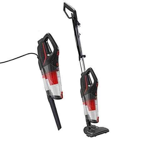 Dibea 2-in-1 Corded Upright Stick Handheld Vacuum Cleaner 15Kpa Strong Suction Multi-Layer HEPA, 1L Dust Bin, Five Height Adjustment Settings for Carpet Hard Floor SC4588