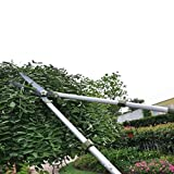 Garden Pro Telescopic Hedge Shear, Razorsharp Hand Shear Clipper, Long Handle Fence Cutter w/ Straight Blade and Extendable Handle
