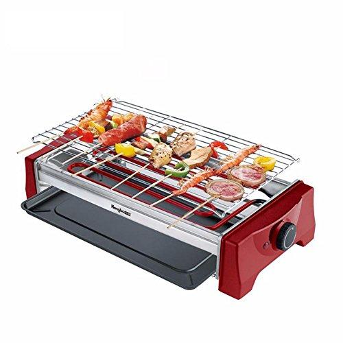 Électrique Grand TeppanyakiRemovable BBQ Grill Table antiadhésif surface de cuisson avec température réglable pour 4-5 personnes 2000W