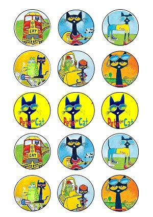 Pete the Cat ~15~ Cupcake Topper ~ Edible Frosting Image -